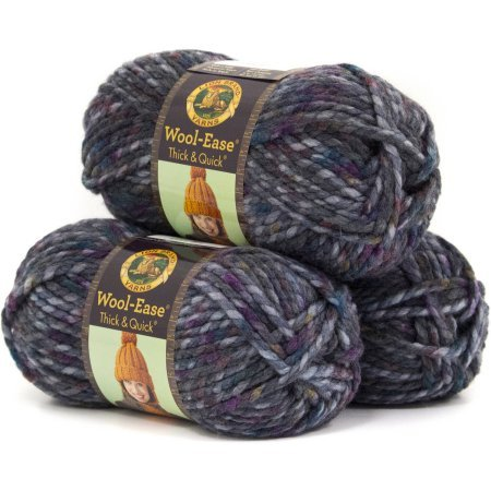 Lion Brand Wool Ease Thick and Quick Yarn, Pack of 3 (Abalone) - Quick Yarn Barley