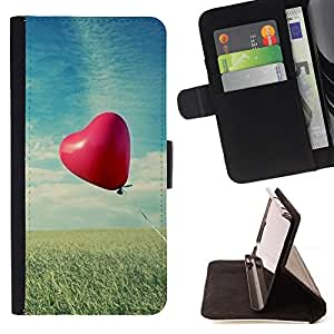 DEVIL CASE - FOR HTC Desire 820 - Love Balloon Love - Style PU Leather Case Wallet Flip Stand Flap Closure Cover