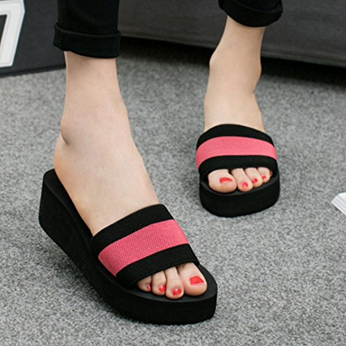 IGEMY - Zapatos con tacón mujer Hot Pink