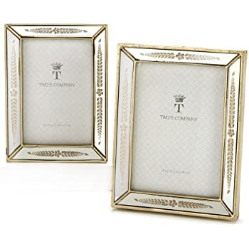 twos company mirrored photo frames - Mirrored Picture Frames