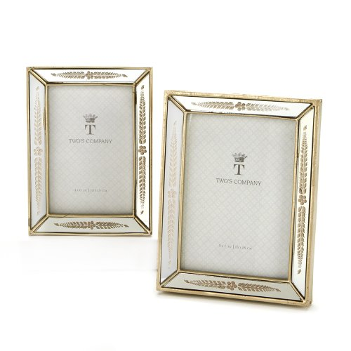 twos company mirrored photo frames set of 2 - Mirrored Frames