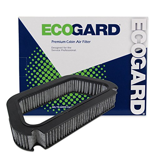 ECOGARD XC36076C Cabin Air Filter with Activated Carbon Odor Eliminator - Premium Replacement Fits Audi A8 Quattro