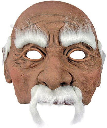 Grandpa Old Man Costume Mask (Guess Who Game Halloween Costume)