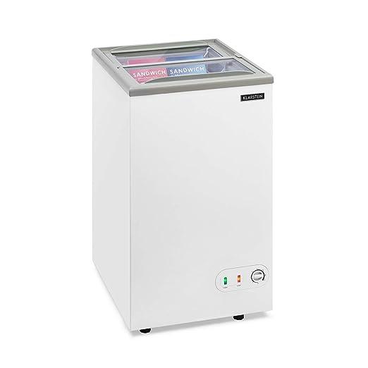 KLARSTEIN Pro Eispalast - Congelador con tapa corrediza de vidrio ...