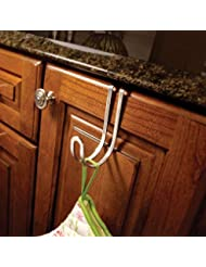 4 Pieces Over-the-cabinet Single Decorative Hook in Satin Nickel