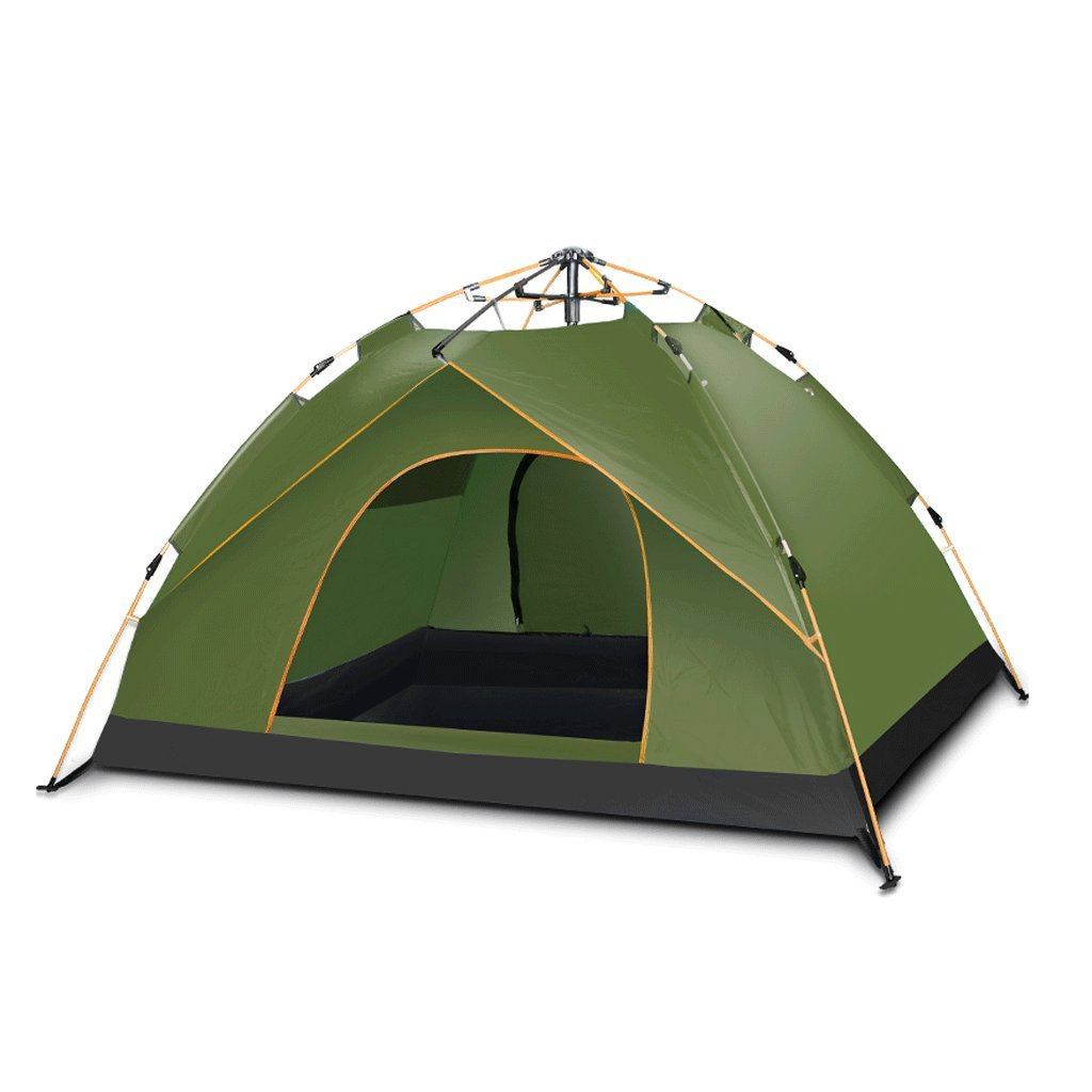 TLMY Explorers Fully Automatic Tents野生のキャンプキャンプ テント (サイズ さいず : Green-4) Green-4  B07GMDYBGQ