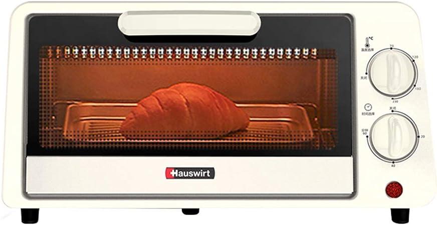 Toaster oven Hogar Pequeño Horno Tostador multifunción de 11L Mini Horno de Desayuno Tubo de Calentamiento de Acero Inoxidable Bandeja de Horno de 60 Minutos Temporizador 800W Blanco: Amazon.es