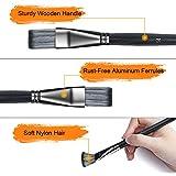 omitium Artist Paint Brush Set,15Pcs Different