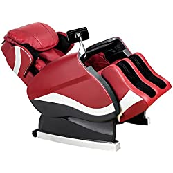 Merax Massage Chair Recliner Chair with Air Massage System Shiatsu Massage Chair (red)