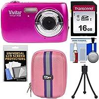 Vivitar ViviCam F126 Digital Camera (Pink) with 16GB Card...