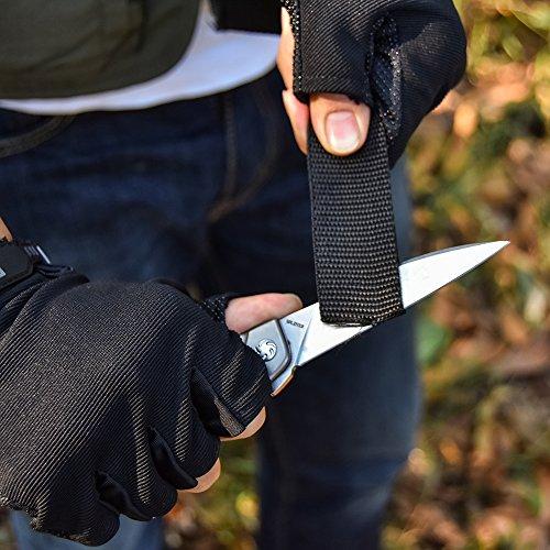 Kizer Cutlery Folding Pocket Knives Flipper Knife Rainbow Titanium Handles Tactical EDC Knife, Tomcat Splinter Ki3457A2