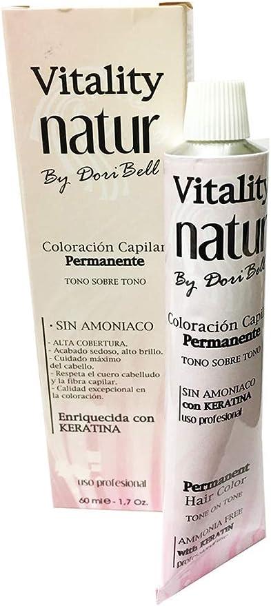 Tinte Vitality Natur Sin Amoniaco + Keratina 60ml. Tono Rubio ...