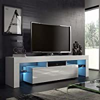 Homgrace Modern TV Unit Cabinet Stand with 2 Shelves,...