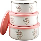 Corelle Coordinates Twilight Grove 3-Piece Enamel on Steel Bowl Set