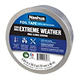 (6) rolls Berry / Nashua # 330 1087665 2.83'' x 50 YD, Silver, Extreme Weather HVAC Foil Tape