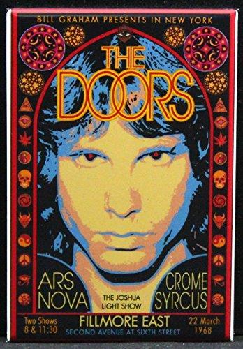 The Doors Concert Poster Refrigerator Magnet. Fillmore East