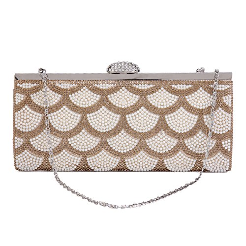 Sector Womens Evening Silver Crystal Party Bag Pearls Jagged Damara C4wxP66
