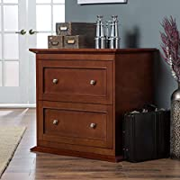 Belham Living Hampton 2-Drawer Lateral Wood Filing Cabinet - Cherry
