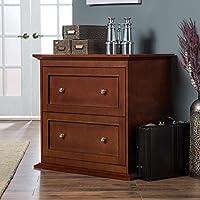 Belham Living Hampton 2-Drawer Lateral Wood Filing Cabinet - Cherry