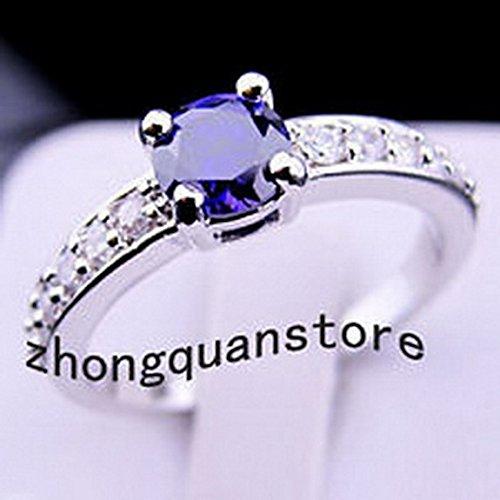 jacob alex ring Jewelry Top Purple Amethyst Gems Ring Size6 Women's 10K White Gold -