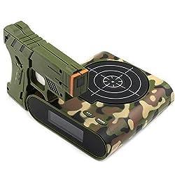 kucoolou 1Set Gun Alarm Clock/Shoot Alarm Clock/Gun O'Clock/Lock N Load Target Alarm Clock Office Gadgets