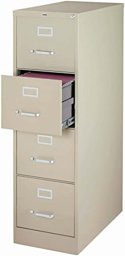 4 Drawer lateral File Cabinet, Lockable Filing Cabinet Metal Organizer Heavy Duty Hanging File Office Home Storage Black