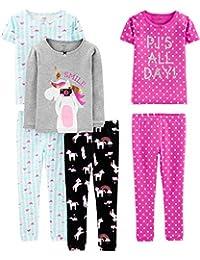 Simple Joys by Carter's Girls 6-Piece Snug Fit Cotton Pajama Set