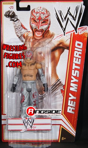 Mattel WWE Wrestling Basic Series 17 2012 Series 5 Action Figure #25 Rey Mysterio