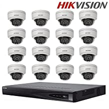 Hikvision CCTV Security System DS-7616NI-E2/16P 16CH 16 Indepedent POE NVR + Hikvision DS-2CD2142FWD-IS 4MP IP Camera Surveillance Camera Security Camera + Seagate 4TB HDD (16 Channel + 16 Camera)