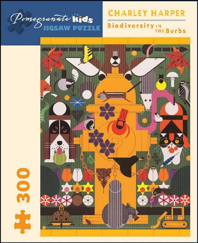 Charley Harper: Biodiversity in the Burbs (Pomegranate Kids Jigsaw Puzzle)