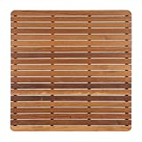 Teak Shower/Bath Mat with Rounded Corners (30'' x 30'')