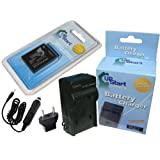 Panasonic Lumix DMC-ZS3 Battery and Charger with Car Plug and EU Adapter - Replacement for Panasonic DMW-BCG10 Digital Camera Batteries and Chargers (1000mAh, 3.6V, Lithium-Ion)