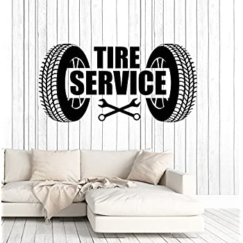 Vinyl Wall Decal Tire Service Repair Garage Car Stickers Murals Large Decor (ig4840) Pink