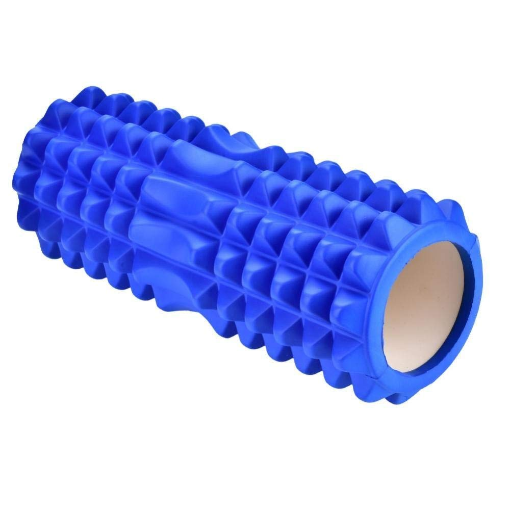 Dream Wings Foam Roller Massager for Trigger Point Physical Therapy Massage Deep Tissue Rollers for Sore Muscles, Pre and Post Workout, Exercise, Recovery, Yoga, Pilates, Cycling and Running (Blue) by Dream Wings (Image #2)