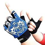 NUWFOR Baby Boys Girls Winter Hand Wrist Warmer Flip Cover Fingerless Gloves ?Blue,XL?