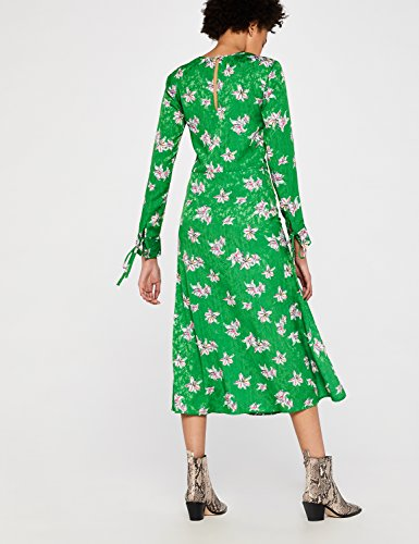 Find Donna Verde Fiori A Midi Vestito green TT7OqHpw