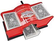 Deck Card Shuffler,Playing Card Shuffler,Manual Card Shuffler (2-Deck) for Blackjack, Poker; Quiet, Easy to Us