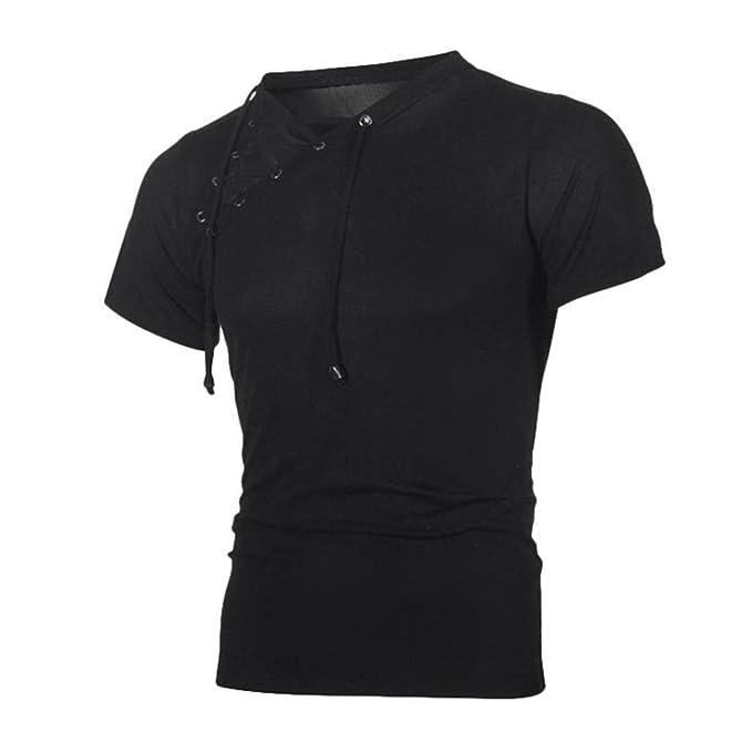 Shirt Uomo T Manica Uomo a Corta ASHOP Camicetta Abbigliamento pnvFzqt