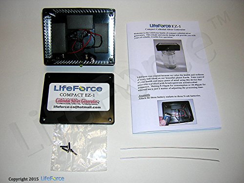 Compact EZ-1 Barebones Colloidal Silver Generator Package w/14 Gauge Wires by LifeForce Devices