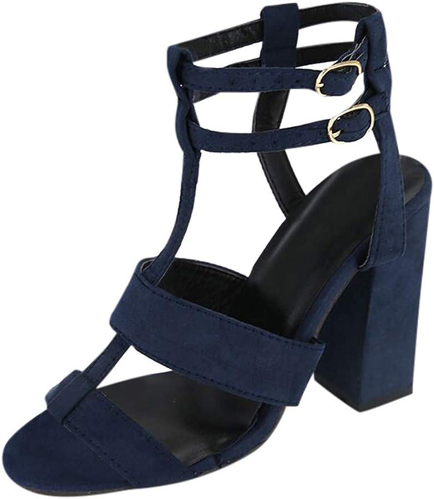 BEAUTYVAN Women's Chunky Heel Cutout Bootie -Comfy Slingback Open Toe Sandals