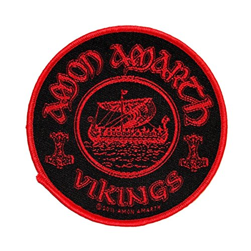 Amon Amarth Vikings Circular Patch Death Metal Band Jacket Sew On Applique by Mia_you