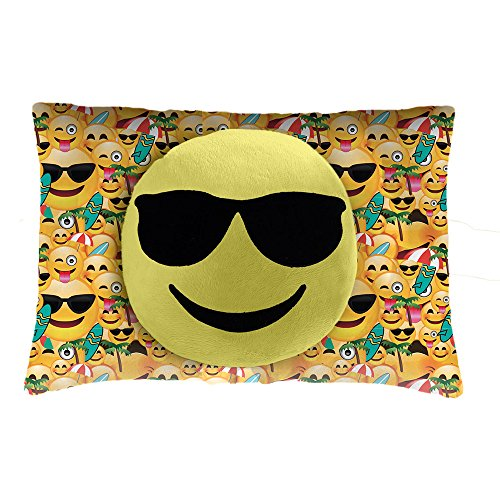 Pillow Pets Smiley's Sunglasses Face - Stuffed Animal Plush - Glasses Smiley Face