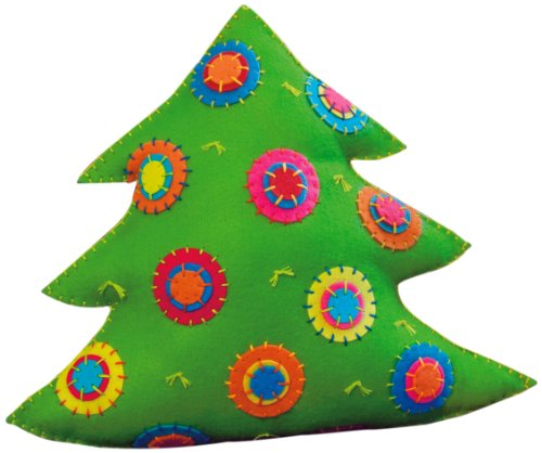 Dimensions Needlecrafts Felt Applique, Colorful Tree Pillow