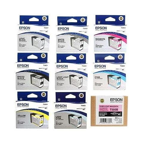 Epson UltraChrome K3 Ink Cartridge Set for Epson Stylus Photo 3880 Printer (Epson T5801)