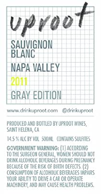 2011 Uproot Wines Gray Edition Sauvignon Blanc 500 mL