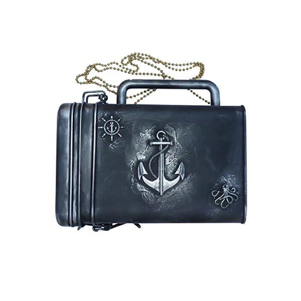 SteAMPunk travel Nautical Steampunk purse BOX handmade 4