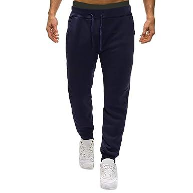 Pantalón Chandal Hombre Pantalones Deportivos Casual Color sólido ...