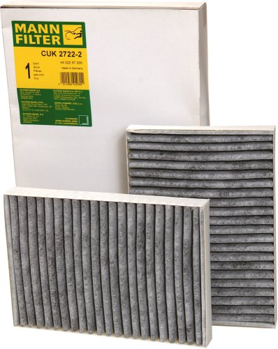 Mann-Filter CUK 2722-2 Cabin Filter With Activated Charcoal for select Mercedes-Benz models -Set of 2 ()