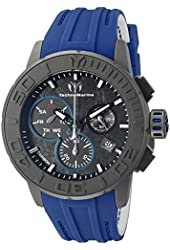 Technomarine Men's TM-515003 Titanium Reef Analog Display Swiss Quartz Blue Watch
