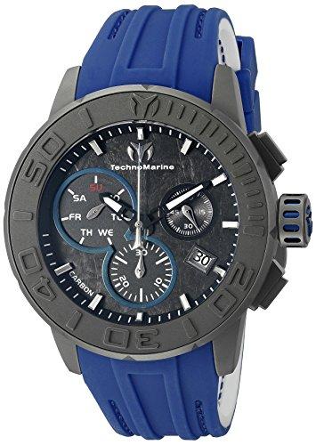 (Technomarine Men's TM-515003 Titanium Reef Analog Display Swiss Quartz Blue Watch)